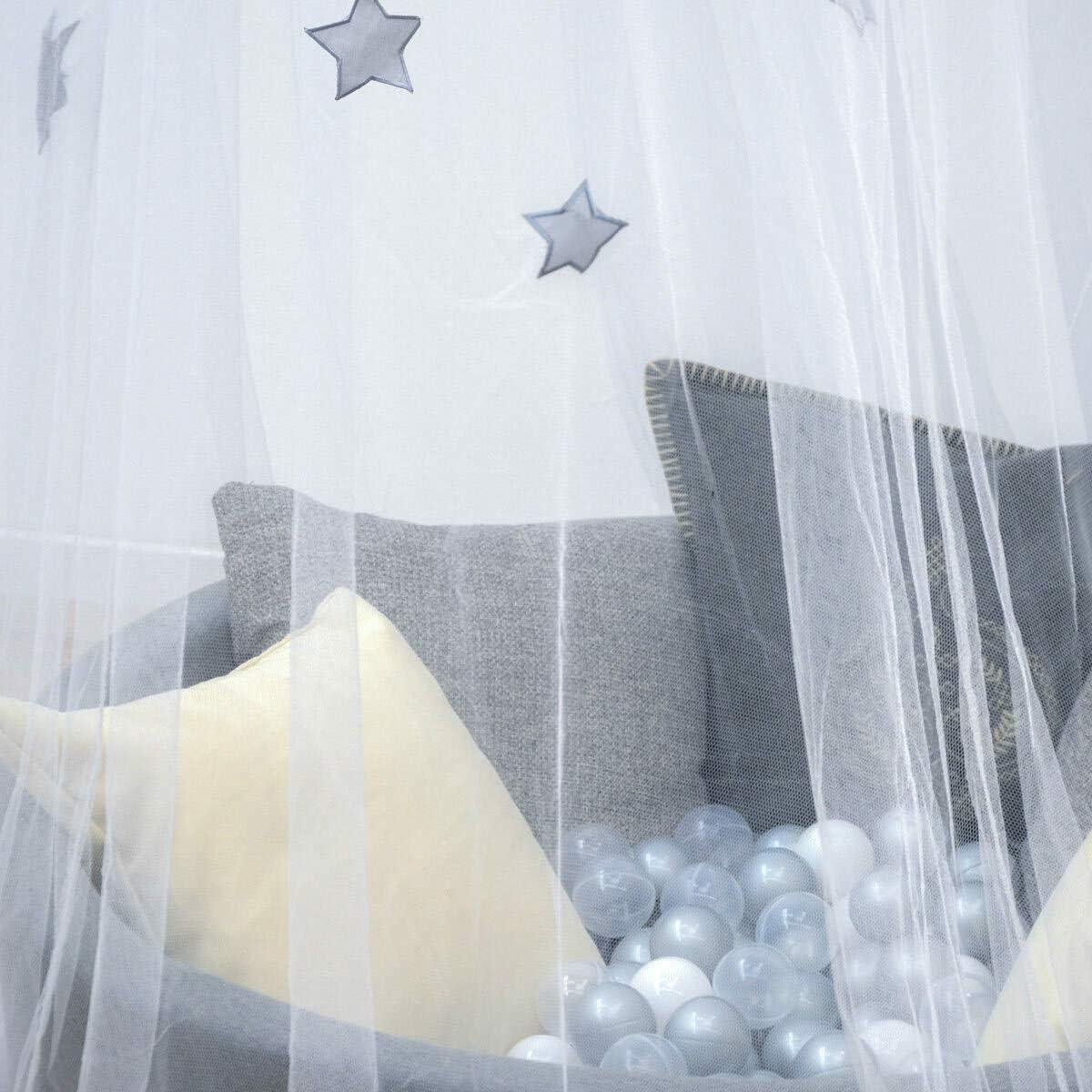 AMANKA Mosquitera resistente al fuego 2,4x8 m Estrella Dosel cama Cortinas contra mosquitos