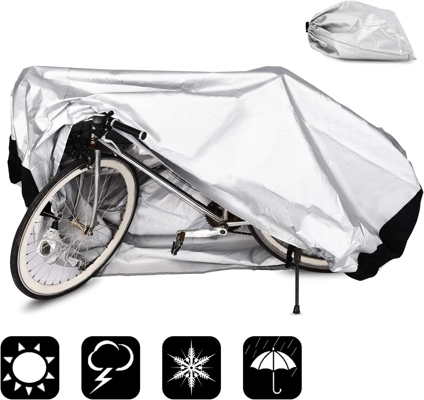 Fahrradabdeckung Wasserdicht Abdeckplane Fahrradschutzhülle Anti Dust Sun Regen