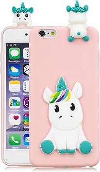 Leton Funda iPhone 6s Silicona Unicornio 3D Suave Flexible TPU ...