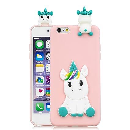 5f5255d7de8 HopMore Compatible con Funda iPhone 6S Plus/iPhone 6 Plus Silicona Dibujo  3D Divertidas TPU