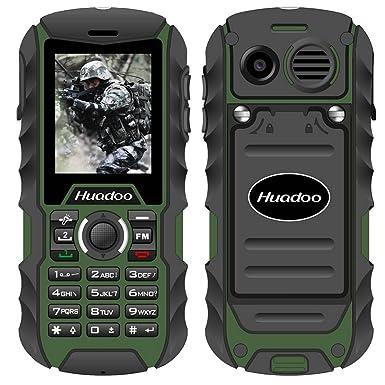 Rugged Cell Phone,Huadoo H1 IP68 Outdoor Waterproof Unlocked Rugged Mobile  Phone ,Quadband Camera