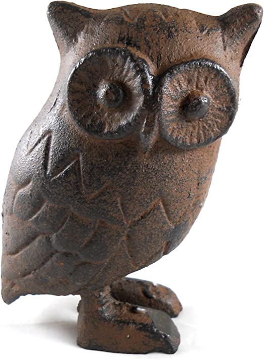 Owl Decoration Home Decor Cast Iron Statue Paperweight Figurine