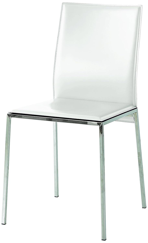 Fashion Commerce FC660 Juego de Dos sillas, ecopiel, Blanco ...