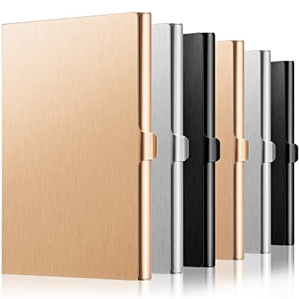 Funda de aluminio para tarjetas de visita, 6 unidades, para ...