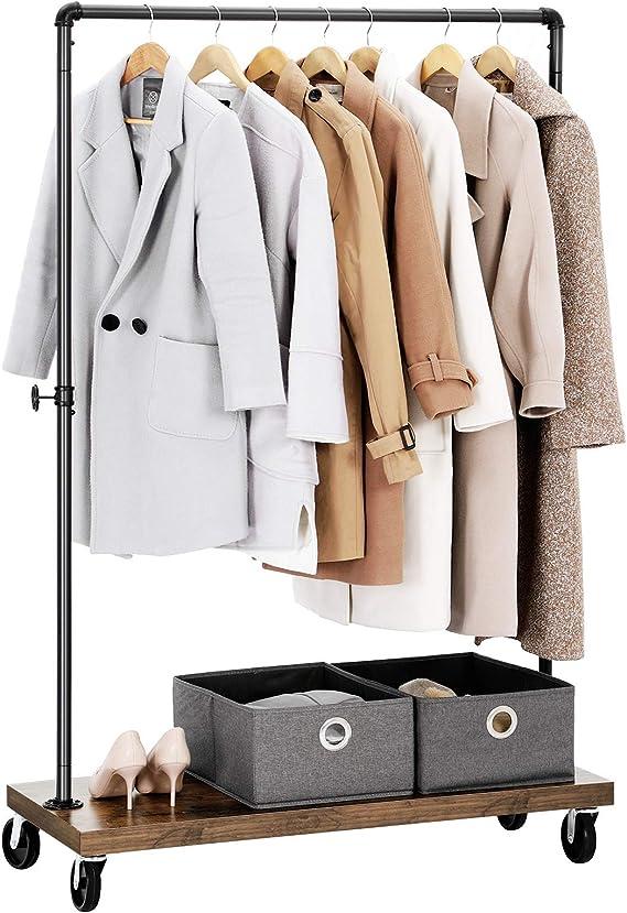 Amazon.com: SONGMICS - Perchero de ropa, estilo industrial ...