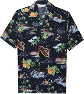 Attention Men Printed Beach Party Holiday Camp Casual Short Sleeve