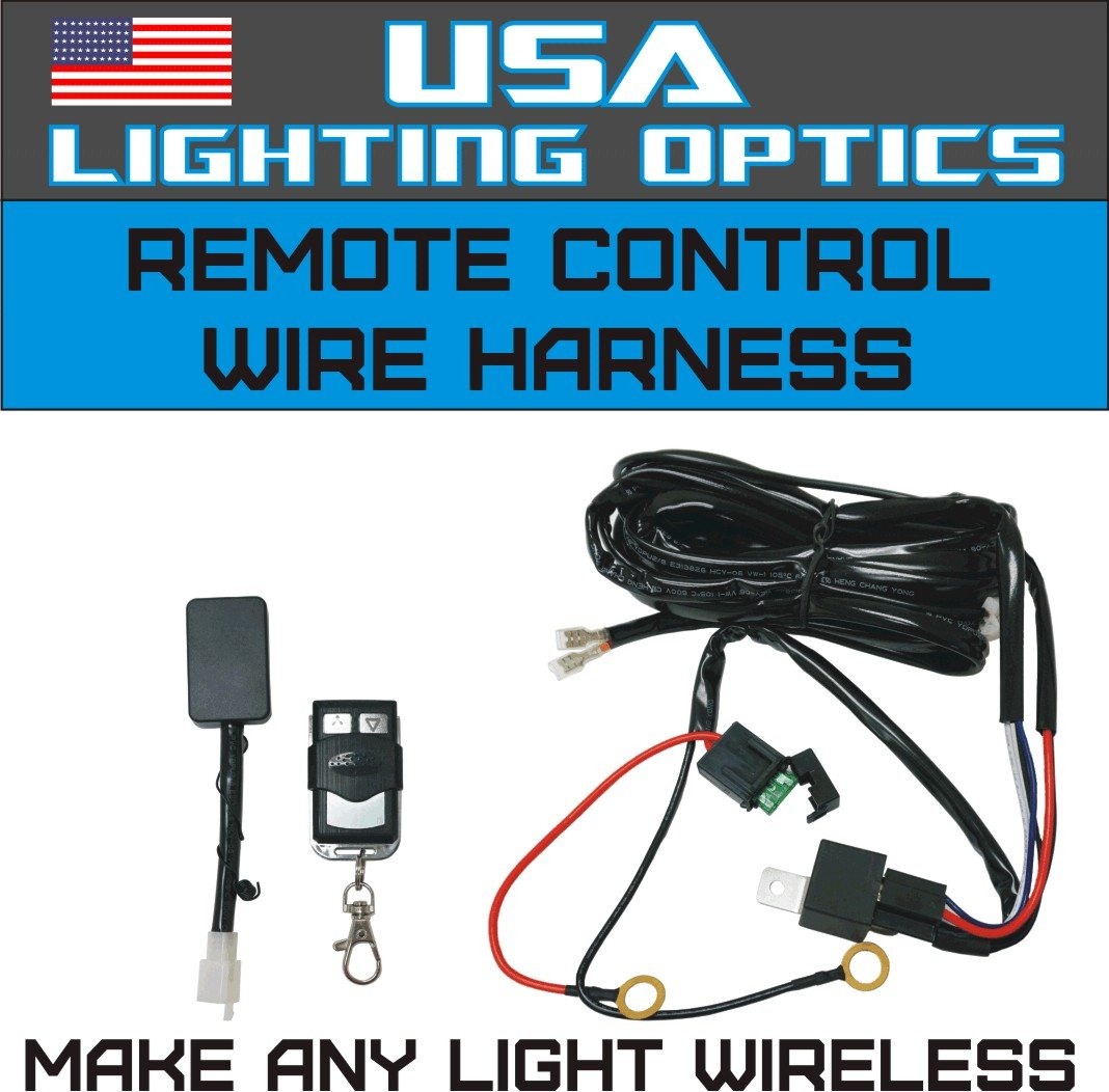 71oi6Fg8ndL._SL1068_ amazon com wireless remote control universal wiring harness off how to make a light bar wiring harness at fashall.co