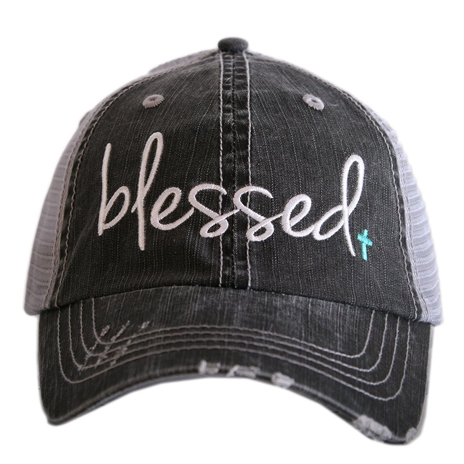 Katydid KDC-TC-189 Gray and Mint Blessed Trucker Hat