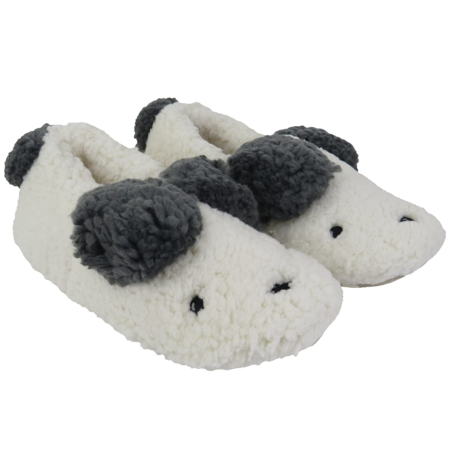 de5a5c8debf Womens Fuzzy Christmas Animal House Slippers Ladies Cute Bedroom Indoor Winter  Slippers Size S  Amazon.co.uk  Shoes   Bags
