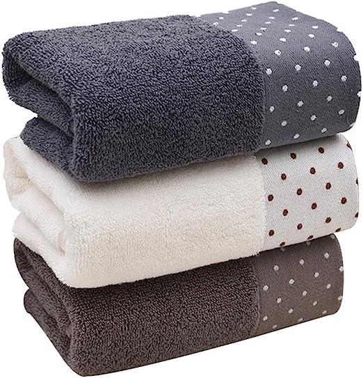 Toallas de baño de algodón, lavables a máquina, 3 piezas: Amazon ...