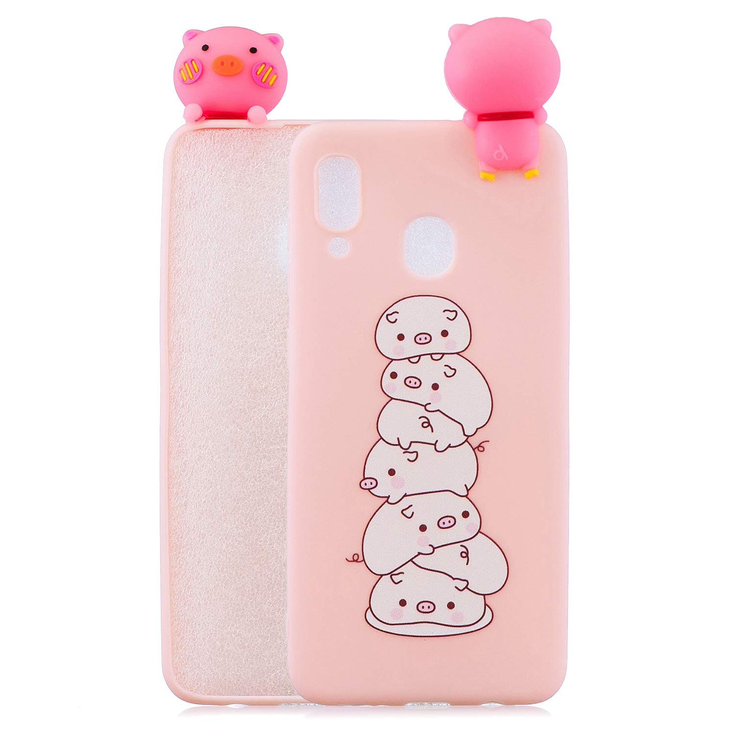 Crystal Gel Flexible Compatible with Huawei P Smart 2019 //Honor 10 Lite,Soft Thin Slim Anti-Scratches Shock Absorption Clear Transparent Silicone Colorful Animal Cartoon TPU Elastic Bumper