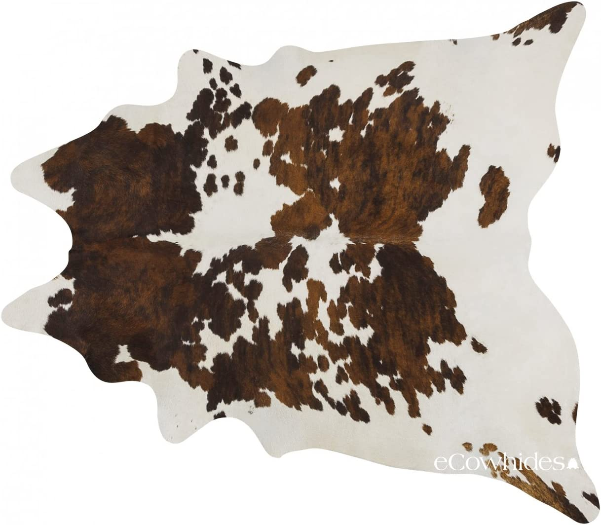 eCowhides Tricolor Brazilian Cowhide Area Rug, Cowskin Leather Hide for Home Living Room XXL