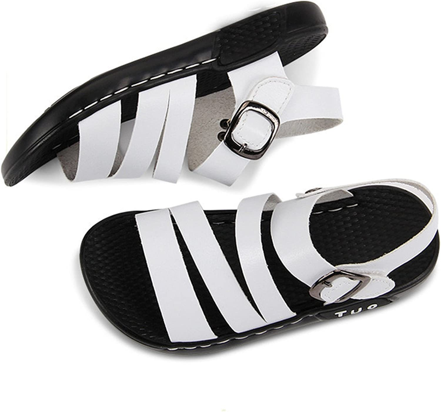 Aworth Boys Soft Leather Sandals Baby Girls Summer Prewalker Soft Sole Shoes Beach Sandals White Bebe Shoes Moccasins