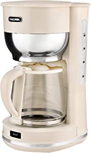 Kalorik 10 Cup Retro Coffee Maker (Cream)