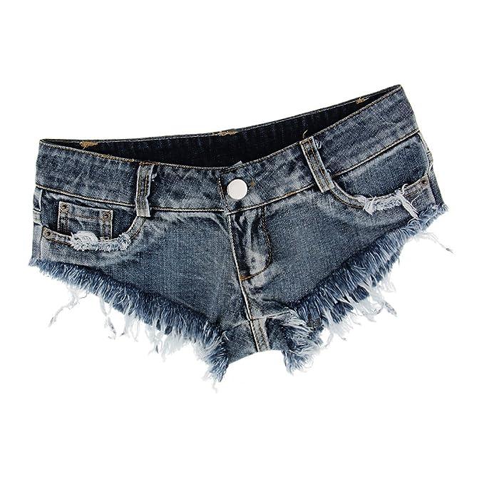 Sharplace Pantalones Cortos Jeans de Mezclilla Elásticos ...