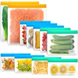 Reusable Food Storage Bags Sandwich - Anpro (11 Pack) Snack Bag for Kids with Double Zipper Seal Lock, Reusable Freezer…