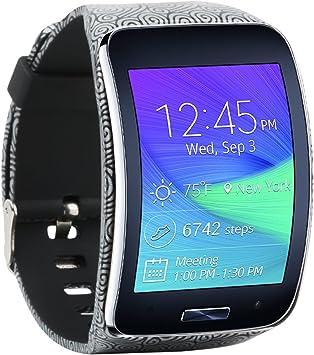 Baaletc Samsung Galaxy Gear S R750 - Correa de Repuesto para Reloj Inteligente con Hebilla de Seguridad, 750 Bands-Clouds: Amazon.es: Deportes y aire libre