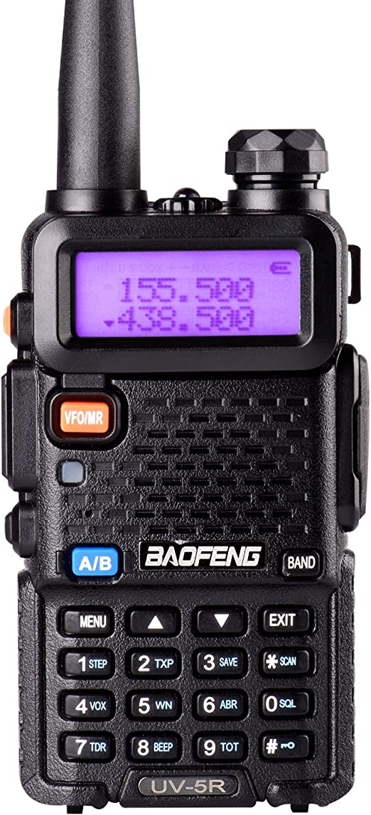 Walkie Talkie bibanda, Doble Monitor, Doble Standby, 136-174//400-480 MHz 2M//70CM, emisor y Receptor, Radio FM, Antena Extensible hasta 18 cm Rojo BaoFeng UV-5R Plus UV5R+
