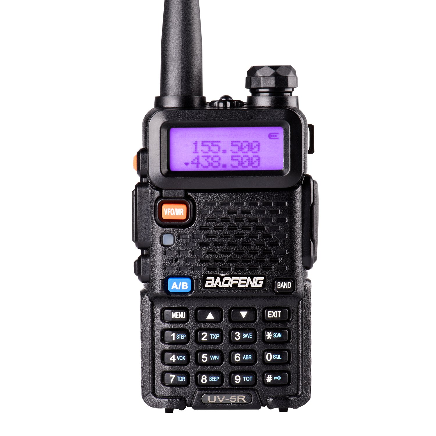 BaoFeng UV-5R Dual Band Two Way Radio Ham handheld Walkie Talkie UHF/VHF 136-174/400-480Mhz 128 Channels (Black)