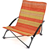 Folding Sun Lounger Beach Mat Lightweight Portable Adjustable Back Rest With Bag