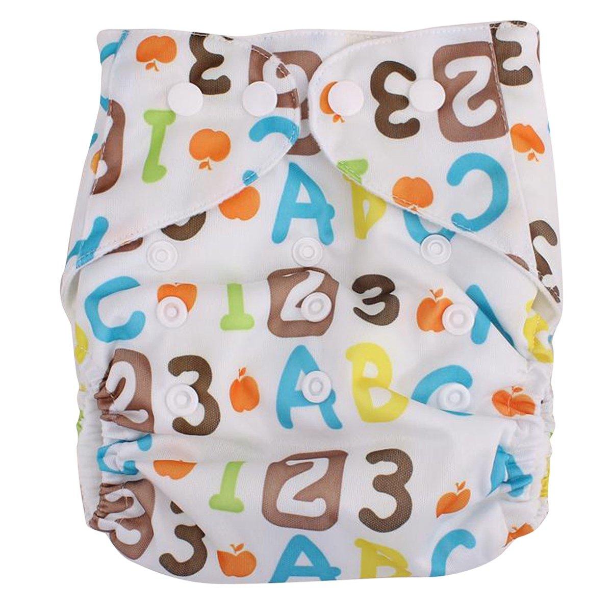 Happy Cherry Pañales Anti Escape Tela Reutilizable Cloth Diaper de Secado Rápido y Lavable para Bebé Niños Niñas