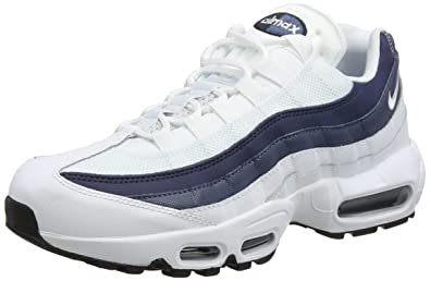 new product 31667 b7259 Nike Air Max 95 Essential, Chaussures de Running Homme, Multicolore White Midnight  Navy