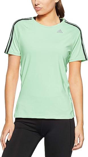 adidas D2m 3 Stripes T Shirt à Manches Courtes pour Femme