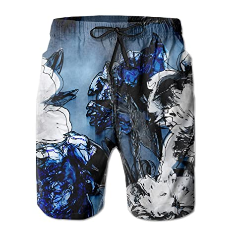 1dab1d0694 LXP FZD Mens Beach Board Shorts Custom Ink Performance Swim Trunks Printed  Surfing Shorts Bathing Suit