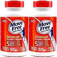 2瓶装 Schiff Move free旭福维骨力氨糖软骨素片红瓶经典版 170粒 2瓶装(美国品牌)包税包邮