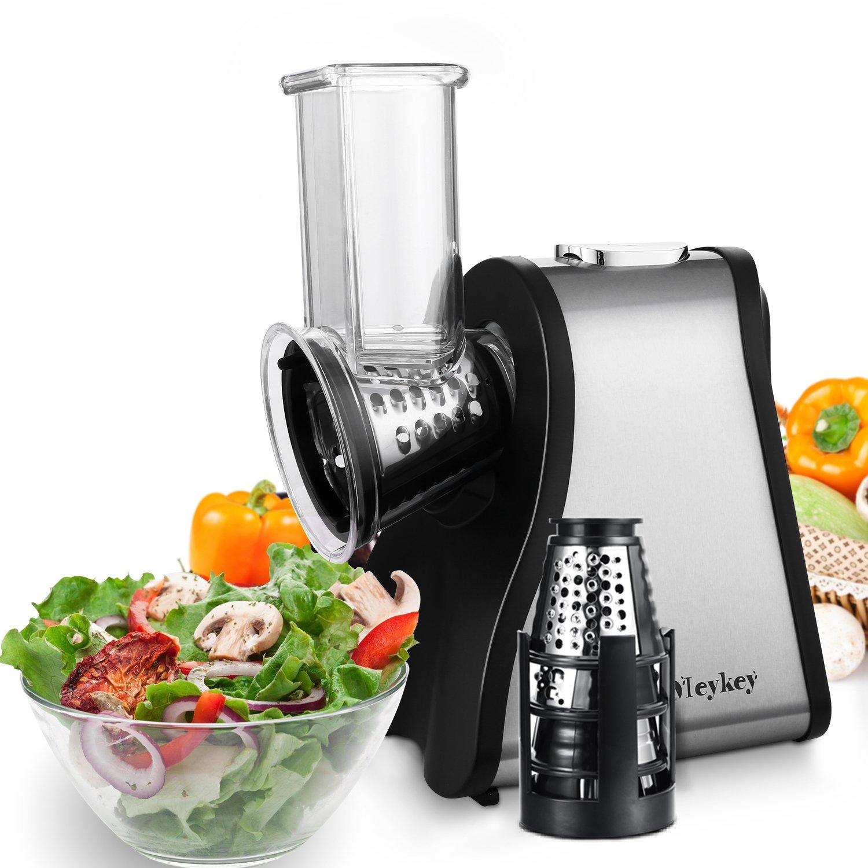 MeyKey Professional Salad Maker Electric Slicer Shredder (black and silver)