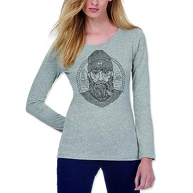 VIENTO Real Captain Damen Langärmliges Shirt  Amazon.de  Bekleidung 5569946bda