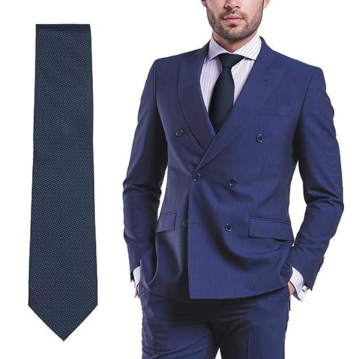 Pop Fashion Navy Blue Ties For Men, Woven Silk Mens Neckties, Formal Dress  Tie