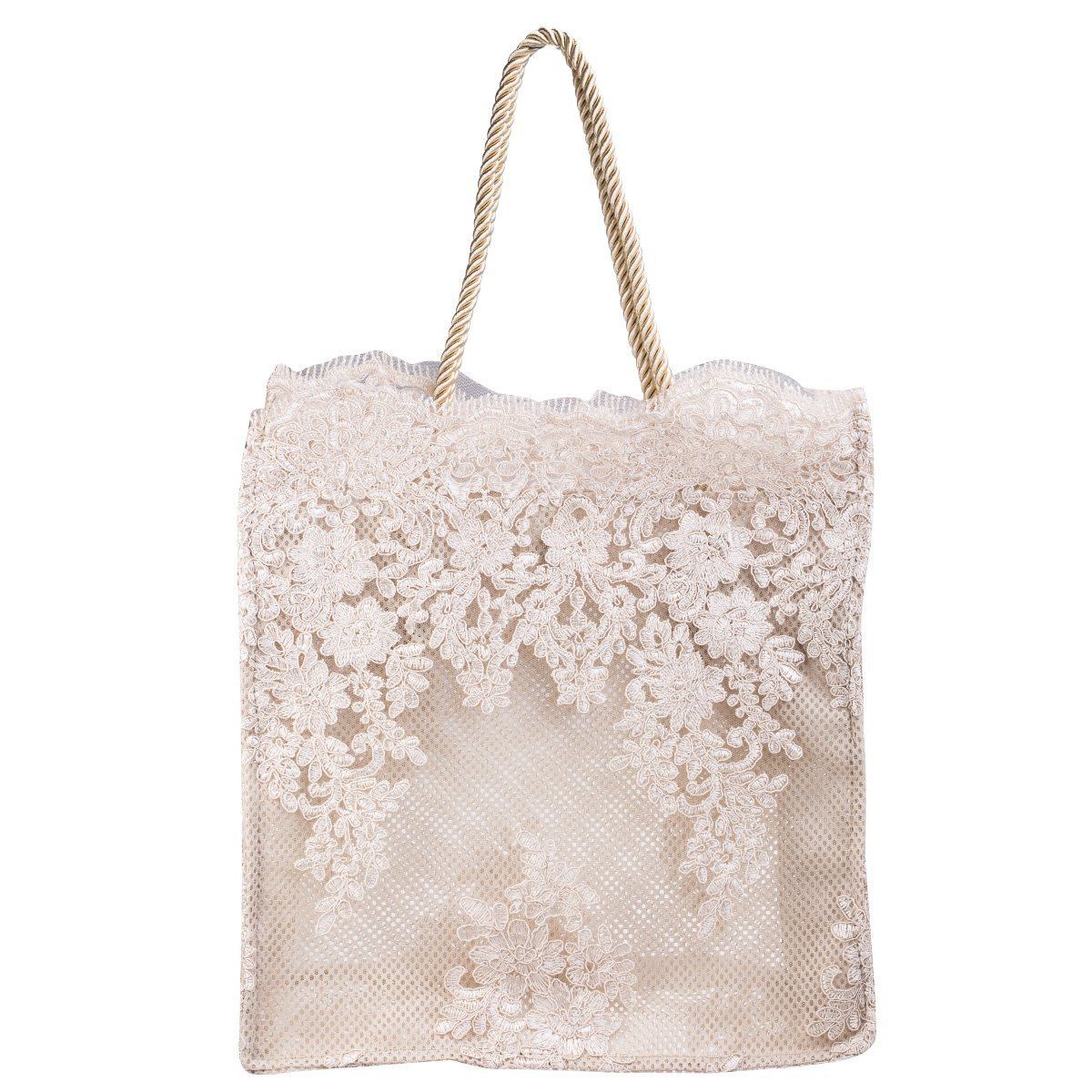 Handbag - Champagne Embroidery Shoulder Bags for Women ManChDa Elegant Lace Lady bags Lightweight - Big Size