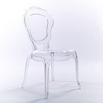 online store 170b3 8aa35 2xhome - Plastic Chair No Arm Side Chair With Back Clear Legs Dining Chair