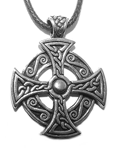 Solar sun cross celtic pendant necklace amazon jewellery solar sun cross celtic pendant necklace aloadofball Choice Image