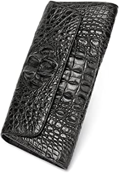 Crocodile leather clutch Crocodile Leather Wallet Crocodile Skin Long Wallet