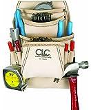CLC Custom Leathercraft 179354 Carpenter's Nail and Tool Bag Reversed Top Grain, 10-Pocket