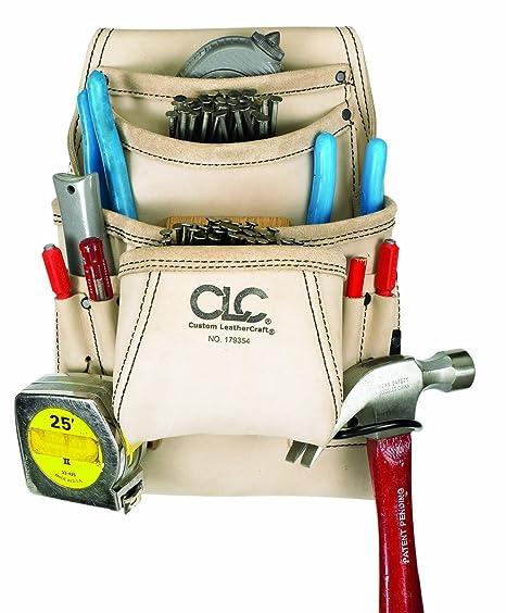 clc custom leathercraft 179354 carpenter's nail and tool bag ...