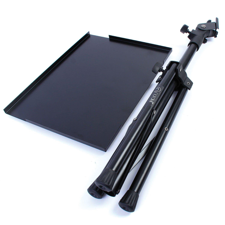 Table sur Pied Ergonomique pour Vid/éoprojecteur avec Support Inclinable /à 180/° Nordell Support Portatif pour Ordinateur et Projecteur avec Grand Tr/épied R/églable