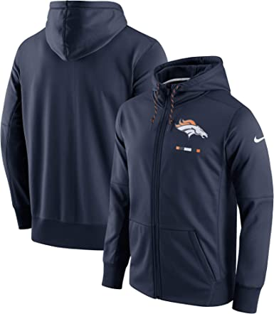 2018 Denver Broncos Fans Hoodie Fleece zip up Coat winter Jacket warm Sweatshirt