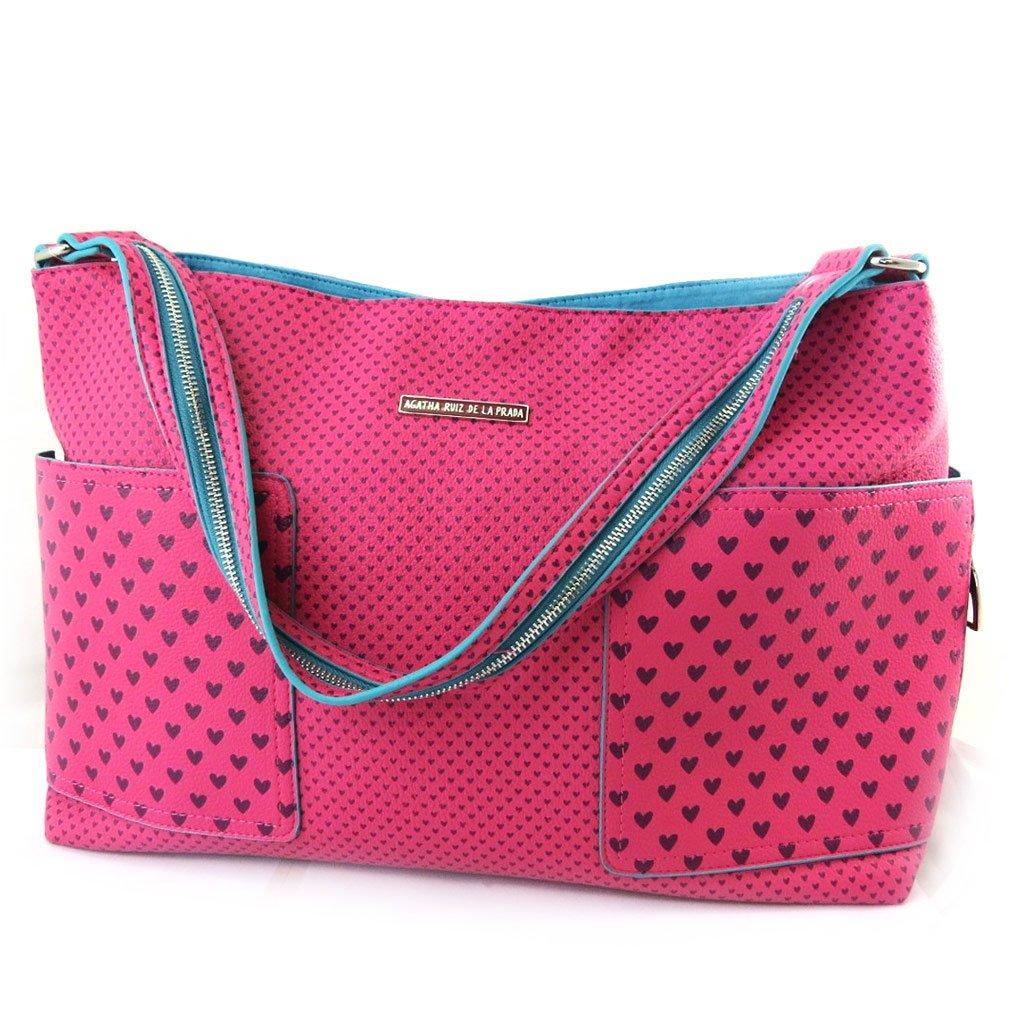 119feed61 Bolsa de diseñador 'Agatha Ruiz De La Prada'fucsia - pequeños corazones.:  Amazon.es: Zapatos y complementos