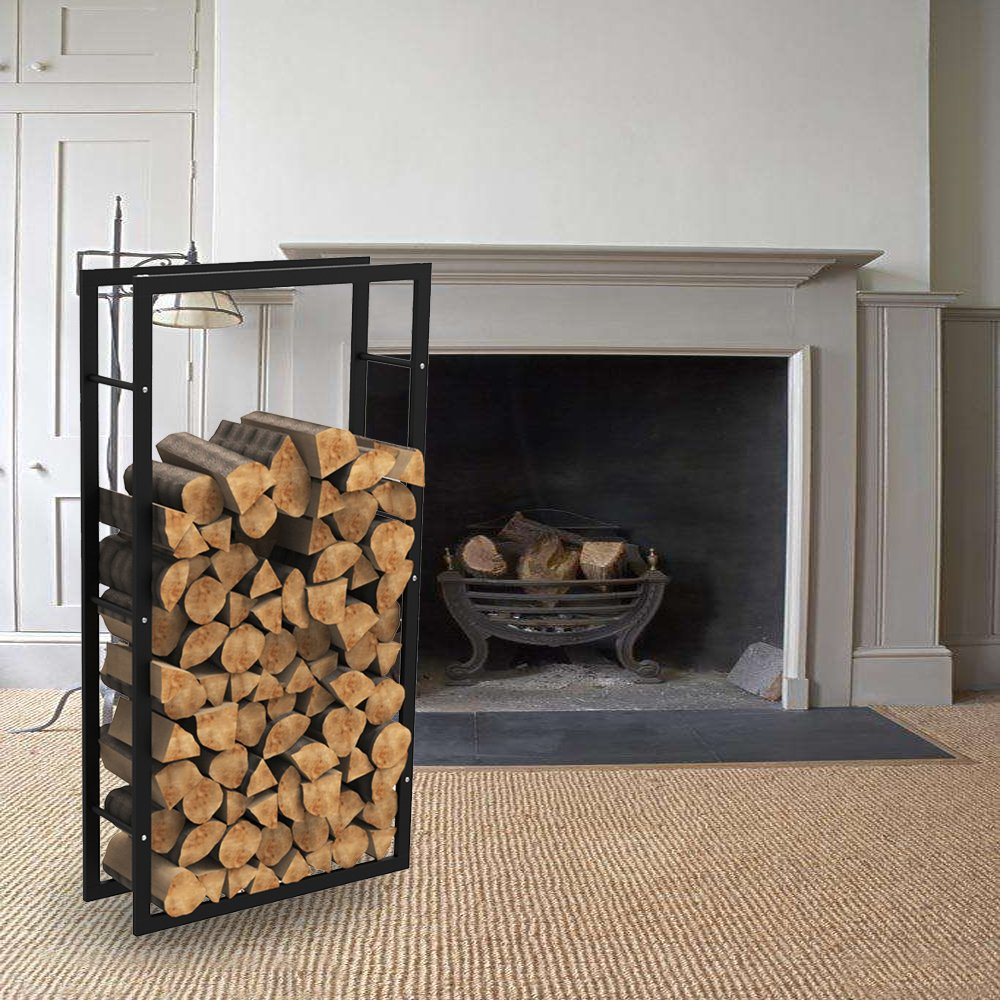 Bois de cheminée étagère étagère bois de chauffage feu en bois étagère bois de cheminée support 100 x 150 x 25 cm