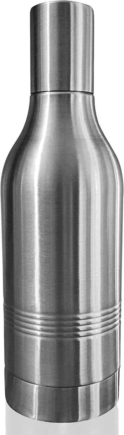 Bottle Thermos | Insulated Wine & Liquor Bottle Thermos Modern Double Wall Stainless Steel Insulator Protective Travel Wine Bottle Chiller for 750ml Red White Wine Portable Champagne Carrier (Silver)