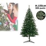 Albero di Natale artificiale 150 cm con 300 punte rami folti PINO DELLE SORPRESE. MWS