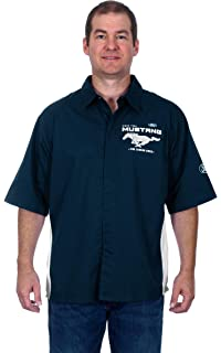 Design Honda Racing Mens Snap Up Embroidered Short Sleeve Racing Pit Shirt J.H