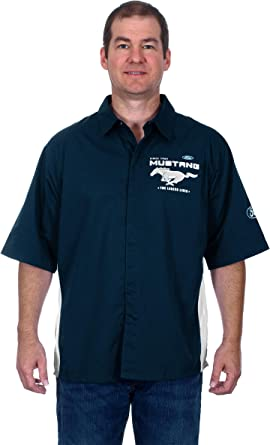 FORD MUSTANG ROYAL BLUE COTTON  POLO SHIRT WITH EMBROIDERED LOGO