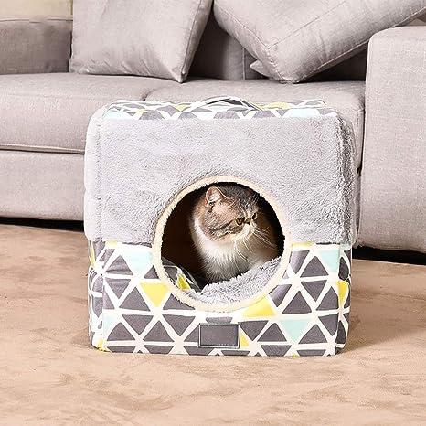 MIAO Cama/Perro Cama Mascotas Casa Guarida Gato/Perro Universal,Graym