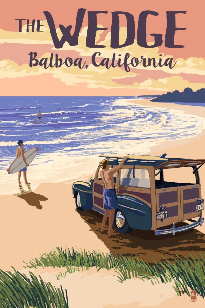 最新入荷 バルボア島、カリフォルニア – B06W5925SL The Wedge Giclee – Woody on the 16 beach 15oz Mug LANT-3P-15OZ-WHT-79428 B06W5925SL 16 x 24 Giclee Print 16 x 24 Giclee Print, PotaricoPublicc:c150b25d --- podolsk.rev-pro.ru