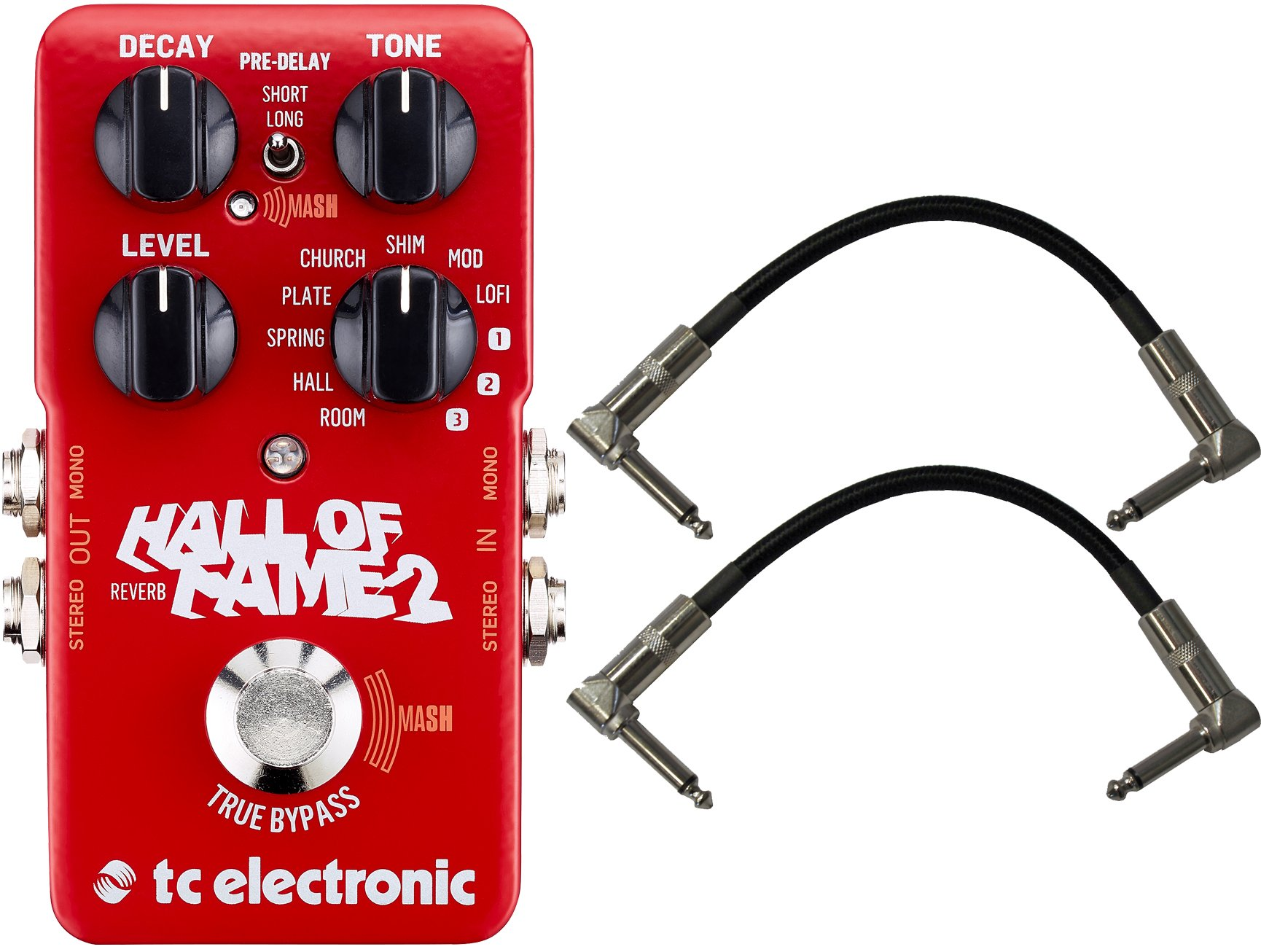 TC Electronic Hall of Fame Reverb 2 w/ 2 Patch Cables by TC Electronic