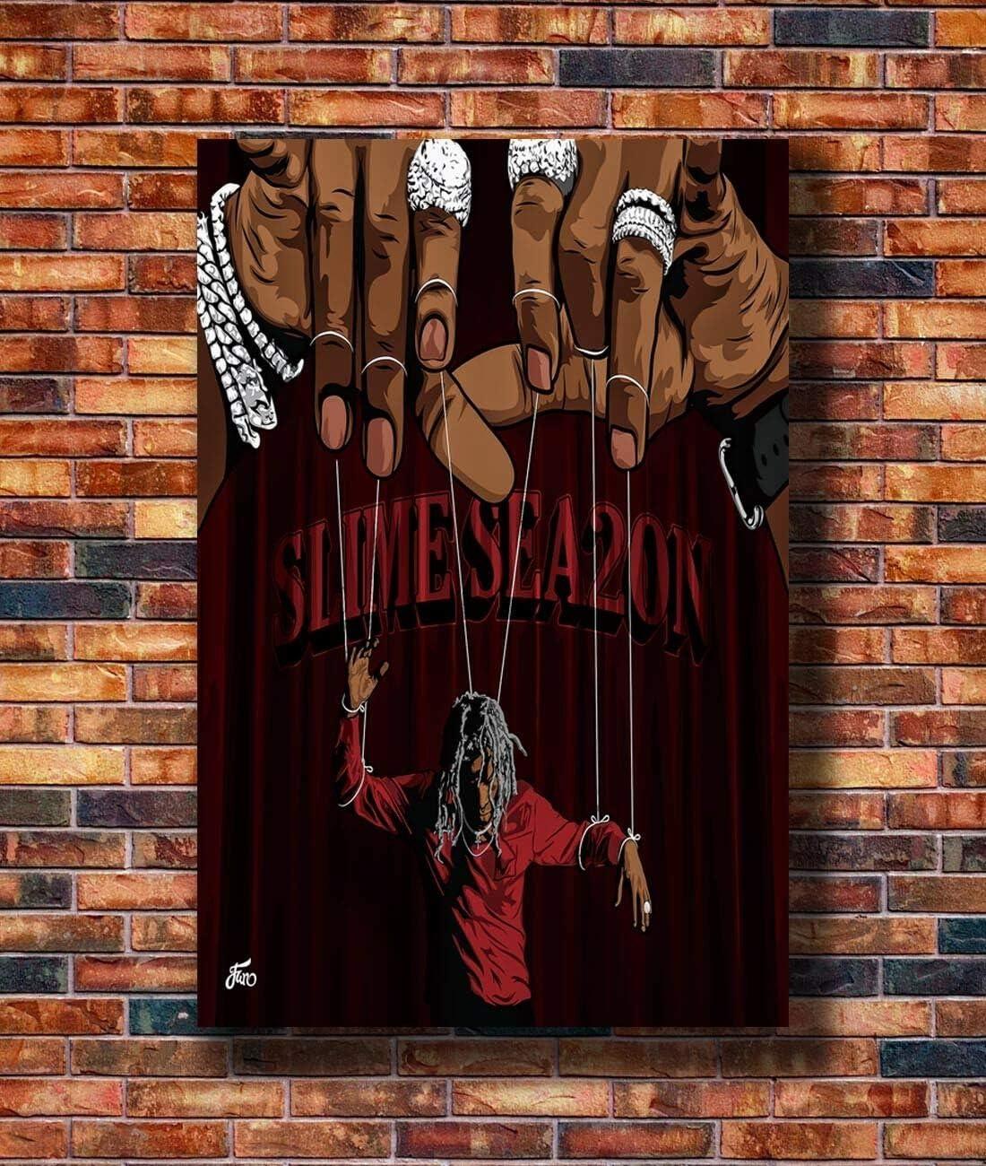 N1034 Young Thug Slime Language Cover 2018 Album 24x24 20 Silk Poster